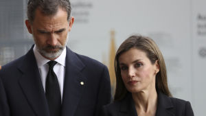 Kung Felipe och drottning Letizia deltog också i mässan.
