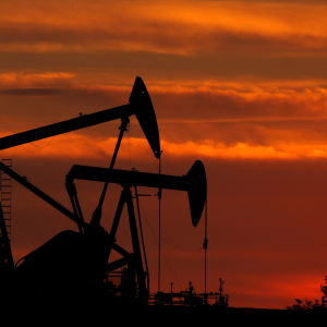 Oljefält nära Los Angeles, USA