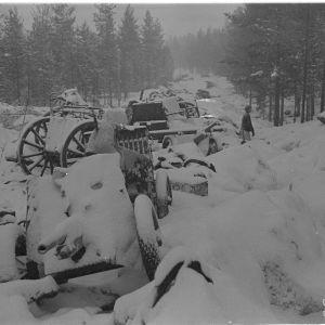 22.1.1940 Tuhottua vih.kolonnaa n. 4 km Lemetistä pohjoiseen.