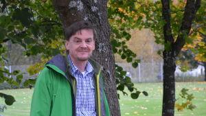 Energirådgivare Anders Wikberg från Skogscentralen