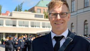 Marcus Westerlund från Dragnäsbäcks frivilliga brandkår.