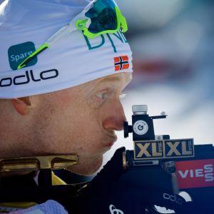 Johannes Thingnes Bö var prickfi i skyttet.