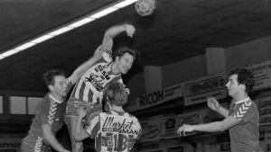 Jan Rönnberg i BK:s FM-seriematch i mitten av 80-talet.