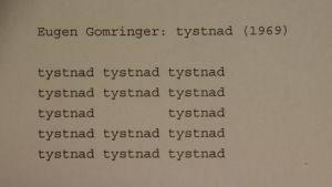 Eugen Gomringer: tystnad (1969)