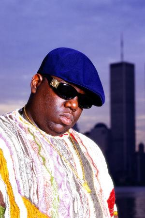 Bild på rapparen Biggie Smalls.