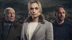 Frank, Ellen och Peter - tre av huvudkaraktärerna i den andra säsongen av Mammon
