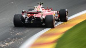 Kimi Räikkönen slår gnistor på Spa.