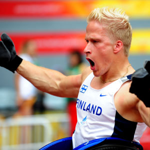 Leo-Pekka Tähti vinner 100 meter, Paralympics 2008.