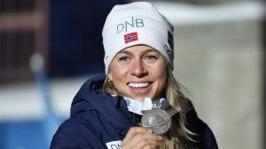 Tiril Eckhoff var med i det norska stafettsilverlaget i VM 2019.