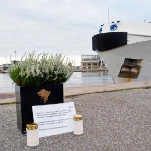Merivartioston vartioalus Uisko muutti lokakuussa uuteen tukikohtaan Turussa.