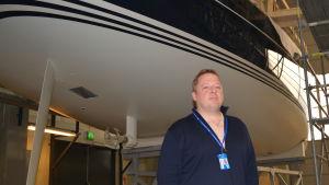 Vd Sam Stenberg på Baltic Yachts