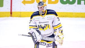 Jonas Gunnarsson var förstemålvakt i HV71.