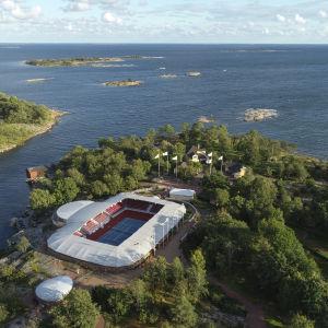 Drönarbild på Andersudde på Åland.