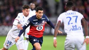 Lyon mot Lille i mars 2020.