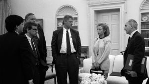 Hillary i Vita huset 1993.