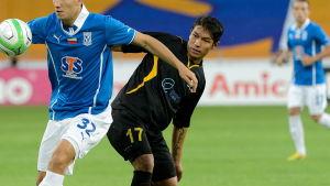 Moshtagh Yaghoubi spelade i Europa League med Honka sommaren 2013.