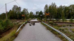 Korsning i Skogby.
