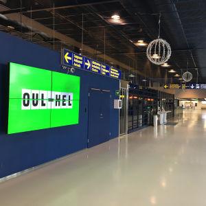 Oulun lentoasema toukokuussa 2020.