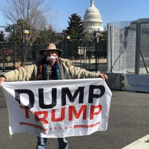 Trumpmotståndare i Washington DC