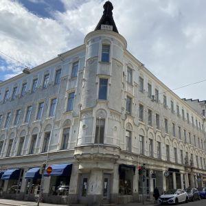 Husfasad på Annegatan.