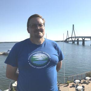 Kenth Nedergård, verksamhetsledare för föreningen Världsarvet i Kvarken.