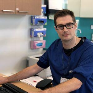 Johan Söderström, överläkare inom lungsjukdomar på Vasa centralsjukhus