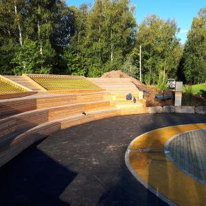 Amfiteatern i Brita Marias park i Karleby.