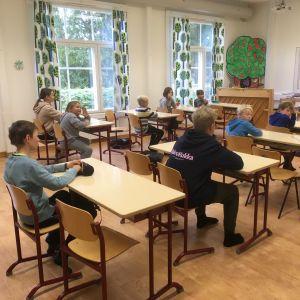 Skolklass i Pernå