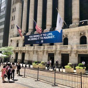 New York-börsen på Wall Street i USA.