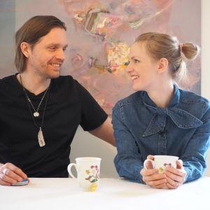 Sophia och Pelle Heikkilä har plastkris.