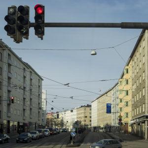 Bostadshus längs Mannerheimvägen i Helsingfors.