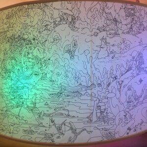"""Tommi Musturis verk på utställningen """"Tillsammans"""" på Kiasma sommaren 2014."""