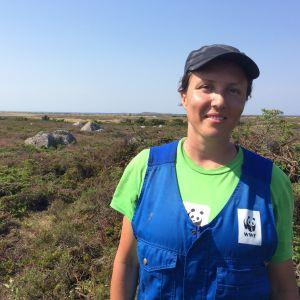 Reita Waara deltar i talkolägret på Jurmo.