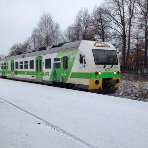 Rälsbuss mellan Hangö och Karis