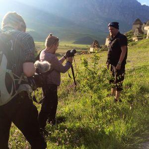 Kuvaaja ja kameramies Kaukasia 30 päivässä -sarjan kuvauksissa