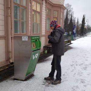 Biljettautomat på Ekenäs tågstation
