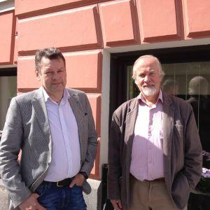 Dan Örndahl och Vesa Routamaa från föreningen Anvias småägare rf.