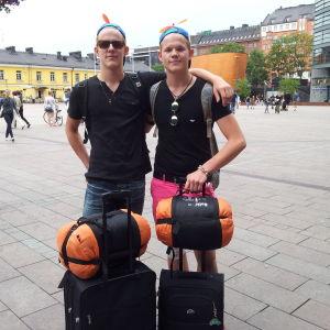 Bröderna Benjamin och Anton Marttis