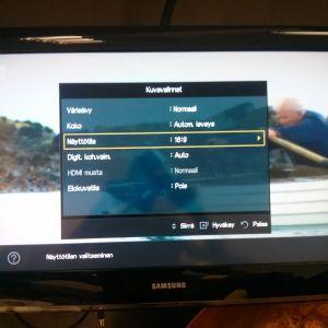 Television asetukset