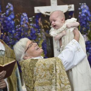 Prins Nicolas döptes på söndagen den 11 oktober.