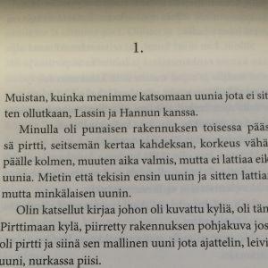 Antti Hyryn Uuni-kirjan ensimmäiset lauseet