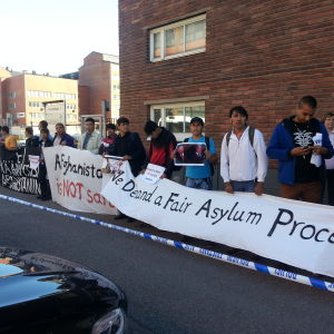 Demonstration utanför Migrationsverket 8.9.2016