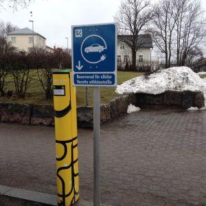 Laddningsstation för elbilar i Ekenäs