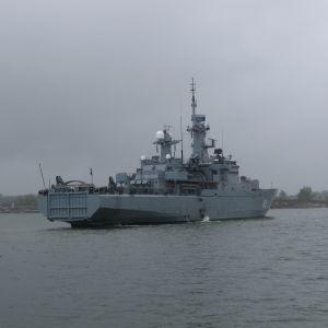 Minfartyget Uusimaa utanför Helsingfors, maj 2017.