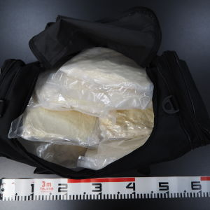 En väska full av metamfetamin