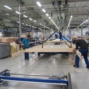 Kannustalos fabrik i Kannus.