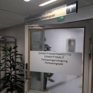 Förlossningen på Mellersta Österbottens centralsjukhus.