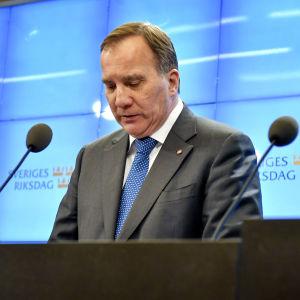 Löfven i riksdagen i oktober 2018