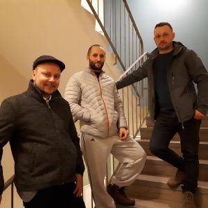 "Petro Fedorian, Dmytro ""Dima"" Yeromenko och Andriy Kotsyak."