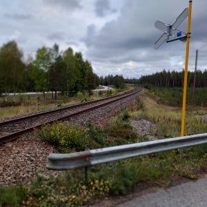 Plankorsning i Skogby.